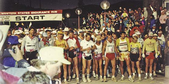 Start of 1989 Western States 100