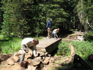 Building Bridge Over Skyline Creek