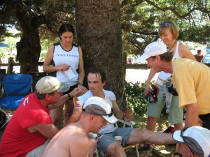 Monkeyboy and Crew at Michigan Bluff 2009