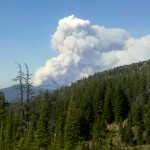 Big Shadow Lake Fire near Mt Washington